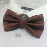 ascot knot - men s solid color bowties brown neck tie knots bow ties necktie butterflies neckwear