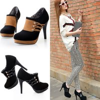 Wholesale Contrast Color More Colors Short Boots High heels Shoes Women Stiletto Boot X