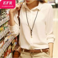 Cheap 2015 New Arrival Shipping Fold Selling Acetate None Regular Solid Fashion Full Autumn Chiffon Shirt Female Sleeve Slim Top