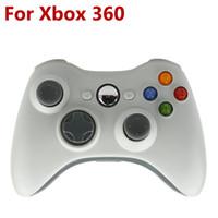 Al por mayor-Blanco Color de 2.4G Gamepad Joypad Juego palanca de mando a distancia Con Pc Reciever Para Microsoft para la consola Xbox 360
