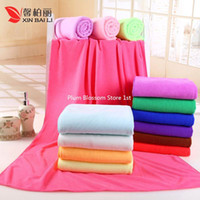 bath towels lot - 20pcs Durable Beach Towel Shower Towel x70cm Bath Towel Bamboo Microfiber Super Absorbent Textile Colors Hair Drying Washcloth