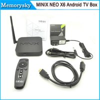 achat en gros de tv player xbmc-MINIX NEO X6 Android TV Box Amlogic S805 Quad Core Smart TV 1G / 8G HDMI Media Player XBMC RJ45 USB Bluetooth IR H.265 / HEVC 1080P 010026