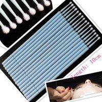 glue applicator - disposable micro applicators mini brush for eyelash extensions plastic tube swabs false lashes glue