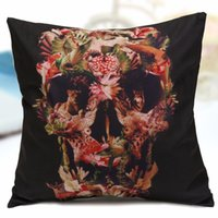 Wholesale 3D Side Printing Cushions Home cm cm Retro Pillowcase Cover for Couch