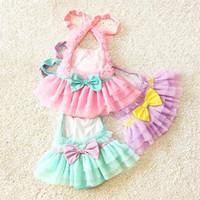 baby beachwear - Baby Girl Ruffle Lace Swimsuits Kids Bathing Suits Girls Swimsuit Kids Swimwear Child Sets Beachwear Children Swimwear Lovekiss C22368
