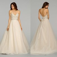 Wholesale 2015 Sexy Hot sale A Line Wedding Dresses Strapless Backless Wedding dresses corset and tulle wedding dresse
