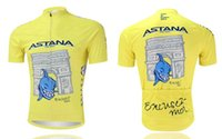 Wholesale astana pro team nibali yellow ONLY ropa ciclismo cycling jersey shirt cycling jersey Cycling Clothing maillot