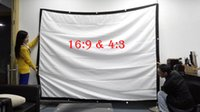 Wholesale 2016 quot inch projection screen Portable Front soft matte white fabric screen without frame can be fold