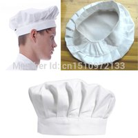 adult chef costume - Track NO Kitchen BBQ Cooking Baking Party Costume Cap White Adult Elastic Chef Hat M28ps