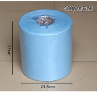 Cheap Light Blue pre paper Best 500 pieces/ roll 5g/pieces cleaning paper