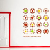 colored full housing - Fancy New Nice JM8299 Combinations of Colored Circles Full House Bedroom Children Buy Room Corridor Wall Buytickers Home Decor W56239
