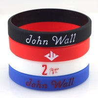 basketball rubber bracelets - 2015 Students Favorate Sports Rubber Wristband John Wall Signature No Basketball Star Fans Souvenir Gifts Hologram Bracelet