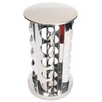 Wholesale Hot Kitchen Seasoning Rack Stainless Steel Degree Rotating Spice Stand Holder Set Cooking Spice Rack Tools Taste