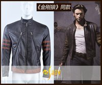 Cheap Newest The x-men wolverine leather jacket Cosplay Costumes movie star mens Motor Coat