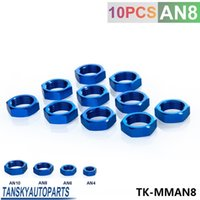 Wholesale Tansky High Quality AN AN8 AN BULKHEAD RED ALUMINUM ANODIZED NUT SEALING LOCKING FITTING ADAPTER TK MMAN8