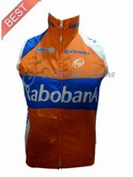 Wholesale windproof Rabobank Cycling vest bicycle vests gilets Rabobank ciclismo chaleco size XS XXXL