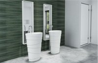 bathroom sink pedestals - 600x400x900mm CUPC Certificate Freestanding Solid Surface Stone Bathroom Wash Basin Cloakroom Oval Pedestal Vessel Sink RS38192