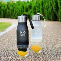Wholesale New cm ml Big size Korea style Hot Today s special plastic sports fruit drink Lemon Cup Bike Water bottle