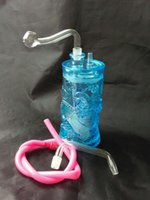 acrylic color pot - Acrylic color embossed dragon Hookah acrylic bong high cm gift accessories glass pot glass walk the pl