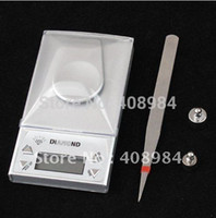 Wholesale high precision g g portable digital LCD Jewelry diamond gem Weight Scale tweezer x farmar