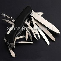 Wholesale Black Swiss Champ mm Switzerland Stainless Steel Knife Multifunctional Folding Army Knives Outdoors Survival Knife Original