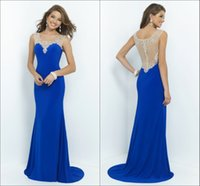 evening wear - Elegant Scoop Evening Dresses With Crystal Beaded Floor Length Formal Evening Goowns New Party Gowns Custom Made Evening Dresses Wear
