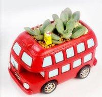 Wholesale 2015 New Creative car flower pot plants pot for Succulent plants Micro landscape bonsai Decoration creative gifts