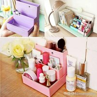 Wholesale New DIY Paper Board Storage Box Desk Decor Stationery Makeup Cosmetic Organizer A3A5