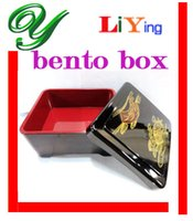 Wholesale Sushi bento box lunch box soup bowl Dinnerware set sushi Eel rice dining plate dish Japan Style plastic cm Black Gold durable container