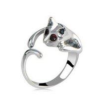 Cola de anillo popular caliente de las ventas de la aleación de los anillos del gato cristalino de la manera del anillo de dedo de calidad superior para el partido de la joyería Mejor 2042