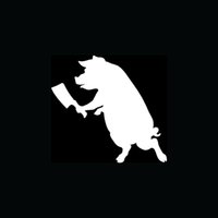 bacon gifts - PIG WITH BUTCHER KNIFE Sticker Bacon Fun Vinyl for Car Window Decal Hatchet Meat Joke Cook Gift