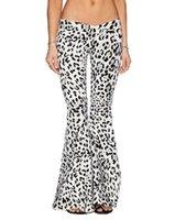 Nueva Moda Casual Mujer Pantalones anchos pierna Pantalones de mujer Loose Pantalón Negro Blanco llamaradas más el tamaño S ~ Xl 24