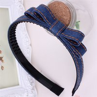 Wholesale Xayakids Hairpin South Korean hair headdress denim head hoop hoop card Yiwu hand a generation of students Baby Headband