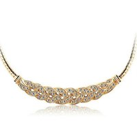 Wholesale Waltz Crystal Necklace Short paragraph clavicle chain Pendant Necklace Valentine s day national wind jewelry For Women