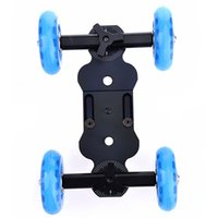 Wholesale 4 wheel Desktop DSLR camera video photograph rail track slider adjustable length