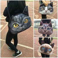 anime messenger - 3D Shoulder Bags Imitation Leather Handbag Messenger Bag Lovely Female Big Size Cute Cat Anime Purse D animal bag Women Sling Bags