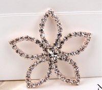 Cheap Wholesale-5pcs lot Clear Crystal Rhinestone Star Shape Rhinestone Buttons for Embellishment,Hair Garment Accessories DIY Jewelry