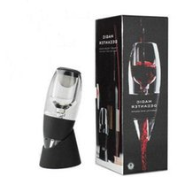 wine glass box - Factory Supplies Quick Magic Decanter Wine Aerator Set With Bag Hopper and Filter Red Wine Aerating Glass Decanter Accessories Retail Box