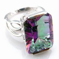 Wholesale mystic rainbow jewelry ring R331D