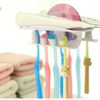 bathroom accessories - Family Convenient Reusable Bathroom Accessories Magic Toothbrush Toothpaste Holder Clamps Hooks Stick dandys