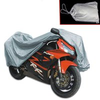 Wholesale New Universal Motorcycle Cover Waterproof Outdoor Sun UV Protection Bike Car Covering Motor Silver Tractor Fabric Coating Rain