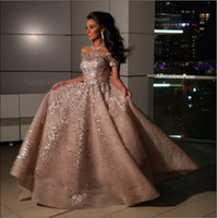 Wholesale Champagne Elie Saab Beaded Sequined Arabic Evening Dresses Sexy Bateau Neck Formal Party Gowns Celebrity Pageant Dress Prom Dresses