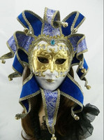 Wholesale Single package Brazil Carnival mask in the Venice carnival music style Hand draw three dimensional grain masquerade mask FD05