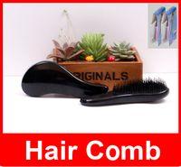 Wholesale Magic Tool Detangling Handle Tangle Shower Hair Brush Comb Salon Shower Shape Styling Tamer Tools Colors
