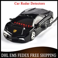 Wholesale 100 pieces High Quaily Car Supercar Radar Detector With LED Display Russian Version English Factory Price Free DHL EMS