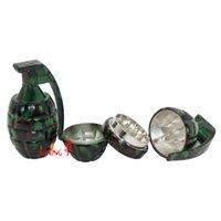 Wholesale herb grinder tobacco grinder Large Camouflage mill smoke grenade is broken smoke detectors smoking creative tools
