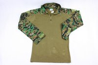 Wholesale USMC Military Tactical Shirt Outdoor Airsoft Hunting Combat Camouflage Long Sleeve T shirt