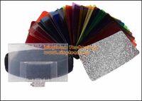 Wholesale CFA K Optical Color Filter Film Colour Absorber Kit set for NIKON CANON Camera Flash Light LED Lamp Bonus Barndoor Reflector Bag