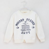 Wholesale 2015 Winter Tong T shirt Korean children plus velvet thick cotton sweater T shirt T shirt personalized letter in children