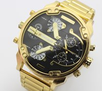 Wholesale 2016 new casual fashion brand watches military watches Gold steel quartz leather Watch strap DZ Relogio Masculino Original